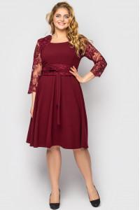 Платье «Кэрол» цвета бордо