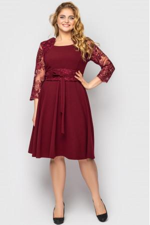 Сукня «Керол» кольору бордо