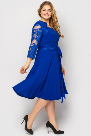 Платье «Кэрол» цвета электрик