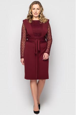 Платье «Беатрис» цвета бордо