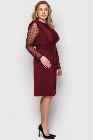 Сукня «Беатріс» кольору бордо