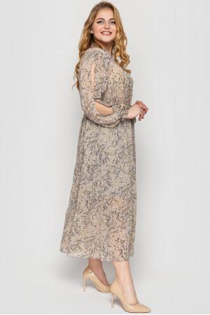 Платье «Юнона» бежевого цвета