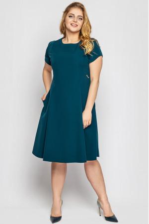 Платье «Милаша» изумрудного цвета