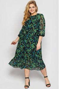 Платье «Андрэа» изумрудного цвета