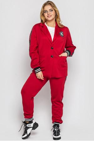 Брючний костюм «Флоранс» червоного кольору