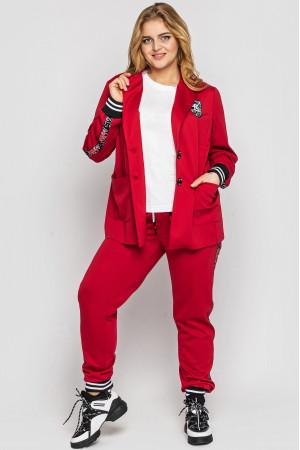 Брючный костюм «Флоранс» красного цвета