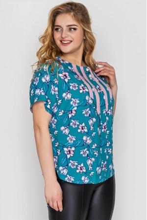 Блуза «Роял» бирюзового цвета