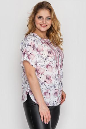 Блуза «Роял» белого цвета
