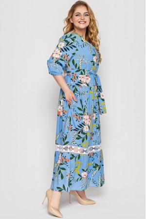 Платье «Лиза» голубого цвета
