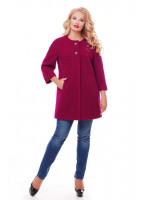 Пальто «Дерри» вишневого цвета