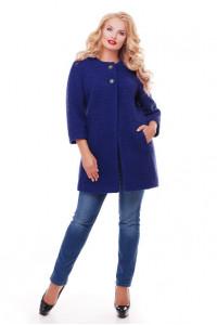 Пальто «Дерри» синего цвета