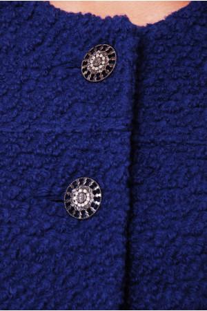Пальто «Деррі» синього кольору