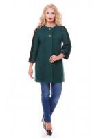 Пальто «Ванесса» зеленого цвета