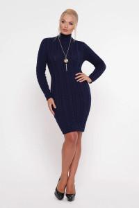 Сукня «Коси» синього кольору