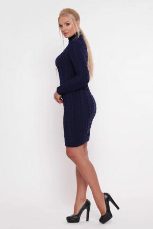 Платье «Косы» синего цвета