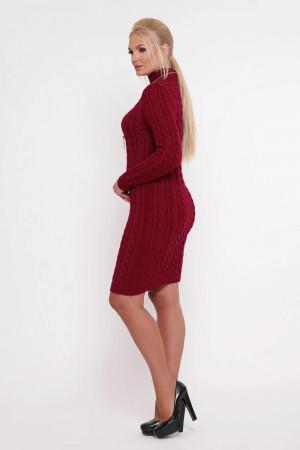 Платье «Косы» цвета бордо