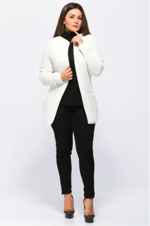 Кардиган «Крема» белого цвета