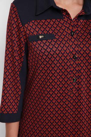 Сукня «Мадлен» оранжевого кольору  з візерунком-лілією