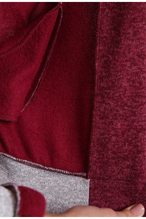 Спортивный костюм «Бомбер» бордового цвета