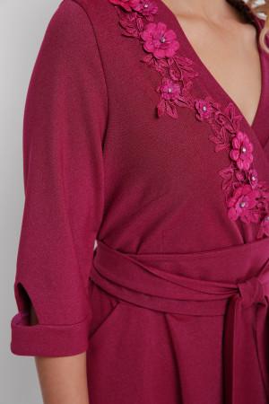 Платье «Паула» цвета марсала