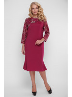 Платье «Аннэт» цвета марсала