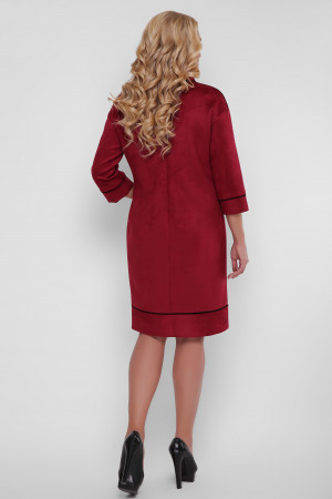 Платье «Мишель-замш» бордового цвета