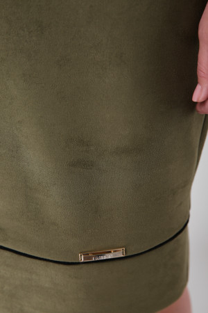 Платье «Мишель-замш» оливкового цвета