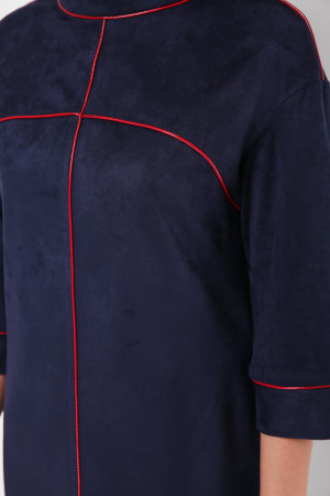 Сукня «Мішель-замш» синього кольору