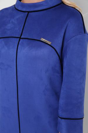 Платье «Мишель-замш» цвета электрик
