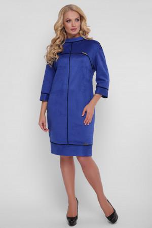 Сукня «Мішель-замш» кольору електрик