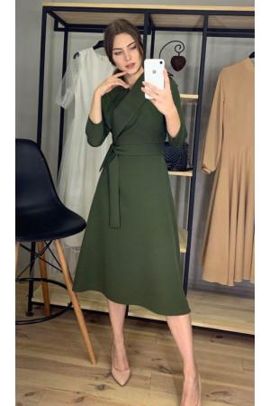 Платье «Анкона» цвета хаки
