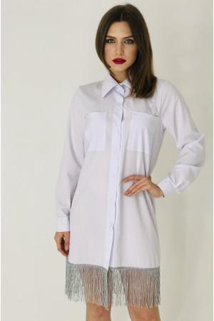 Платье-рубашка «Бертони» белого цвета