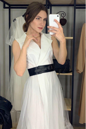 Платье «Лирена»  белого цвета