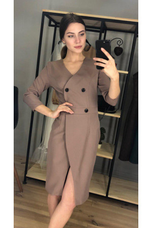 Платье «Виктория» коричневого цвета
