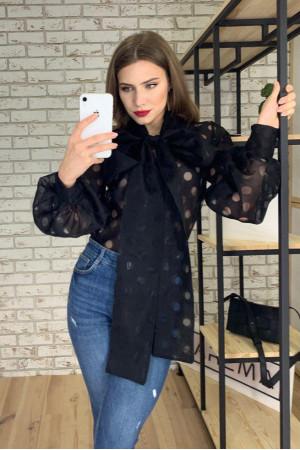 Блуза «Верона» чорного кольору