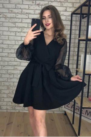 Платье «Эрика» черного цвета