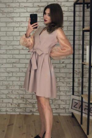 Платье «Эрика» бежевого цвета
