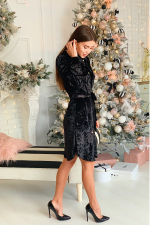 Платье-рубашка «Аделис» черного цвета