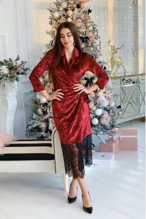 Платье «Блис» бордового цвета