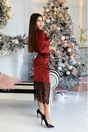 Сукня «Бліс» бордового кольору