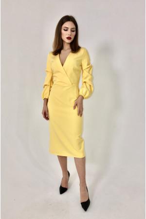 Платье «Алина» желтого цвета