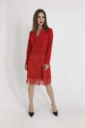 Платье-тренч «Николетта» красного цвета
