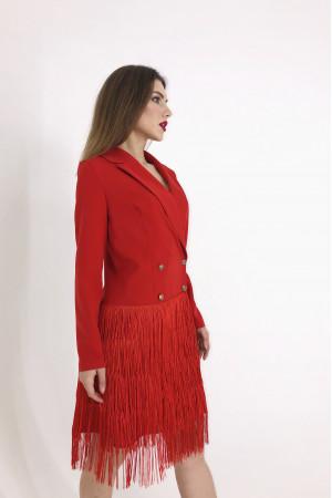 Сукня-тренч «Ніколетта» червоного кольору