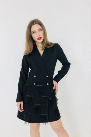 Платье-тренч «Стефания» черного цвета