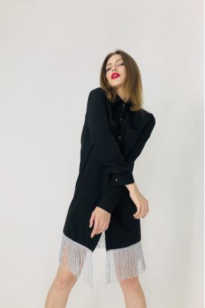 Платье-рубашка «Бертони» черного цвета
