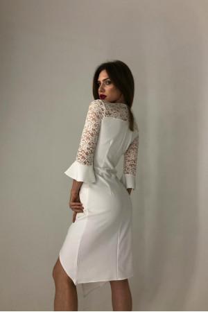 Платье «Лавина» белого цвета