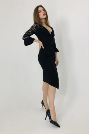 Платье «Лавина» черного цвета