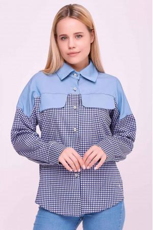 Сорочка «Антонія» блакитного кольору
