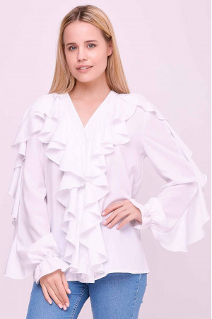 Блуза «Кіара» білого кольору