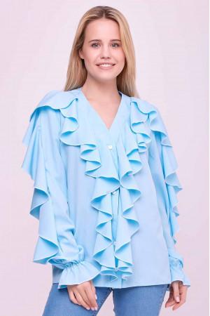 Блуза «Кіара» блакитного кольору